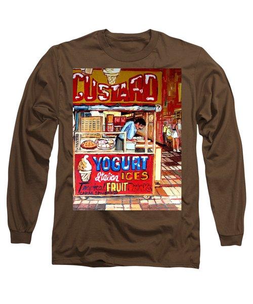 Custard Cart Long Sleeve T-Shirt