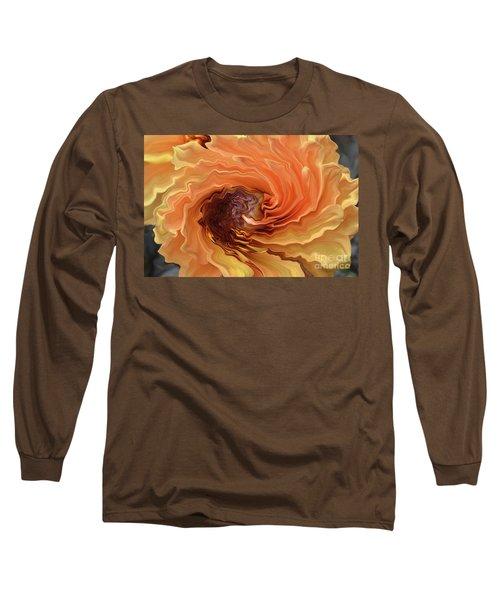Dahlia Long Sleeve T-Shirt by Debby Pueschel