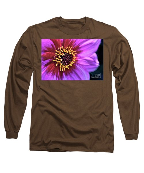Dahlia Flower Portrait Long Sleeve T-Shirt
