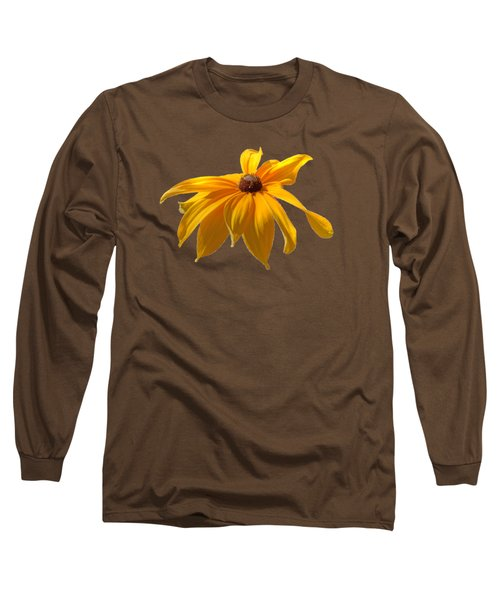 Long Sleeve T-Shirt featuring the photograph Daisy - Flower - Transparent by Nikolyn McDonald