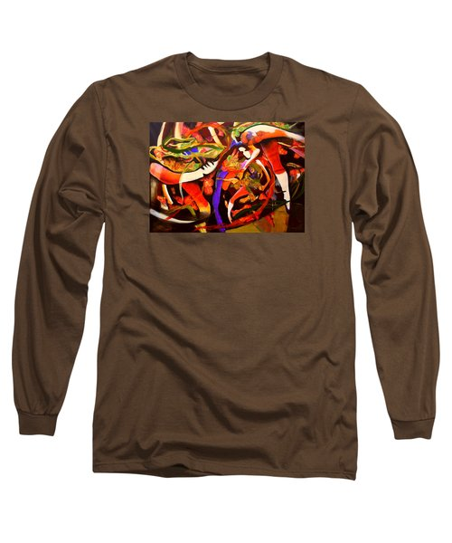 Long Sleeve T-Shirt featuring the painting Dance Frenzy by Georg Douglas