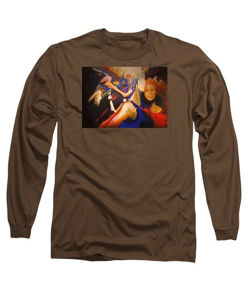 Long Sleeve T-Shirt featuring the painting Dancers by Georg Douglas