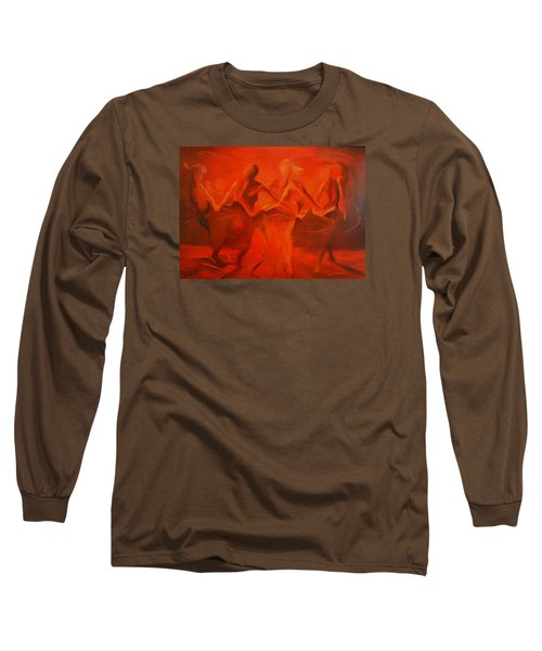 Long Sleeve T-Shirt featuring the painting Dancing In The Gloaming by Georg Douglas