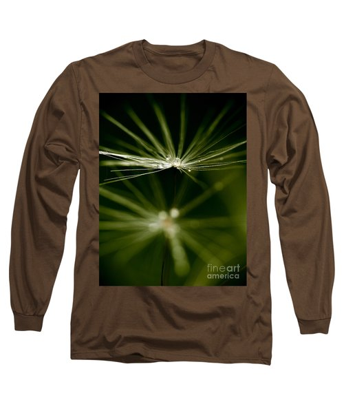 Dandelion Flower With Water Drops  Long Sleeve T-Shirt