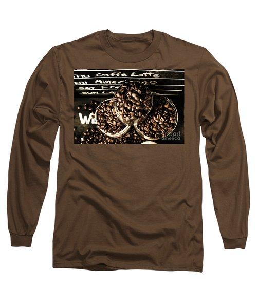 Dark Coffee Shop Long Sleeve T-Shirt
