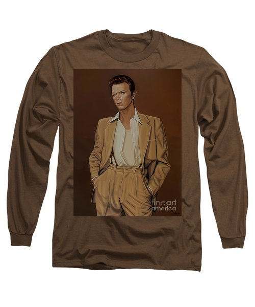 David Bowie Four Ever Long Sleeve T-Shirt by Paul Meijering