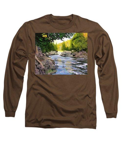 Dawn On The River Long Sleeve T-Shirt