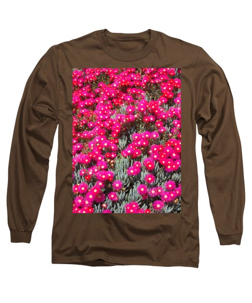 Dazzling Pink Flowers Long Sleeve T-Shirt by Mark Barclay