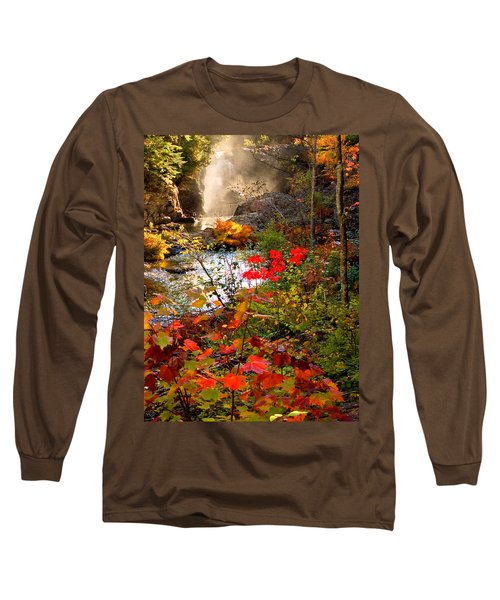 Dead River Falls Foreground Plus Mist 2509 Long Sleeve T-Shirt by Michael Bessler