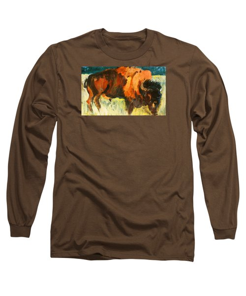 Debbie's Postcard Buffalo Long Sleeve T-Shirt by Les Leffingwell
