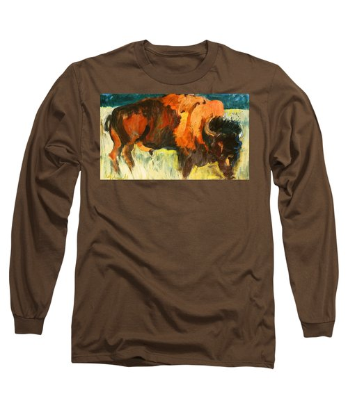 Debbie's Postcard Buffalo Long Sleeve T-Shirt