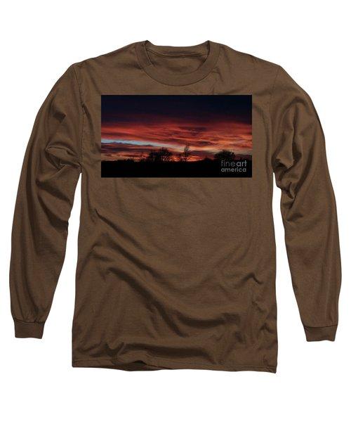 December 2016 Farm Sunset Long Sleeve T-Shirt by J L Zarek