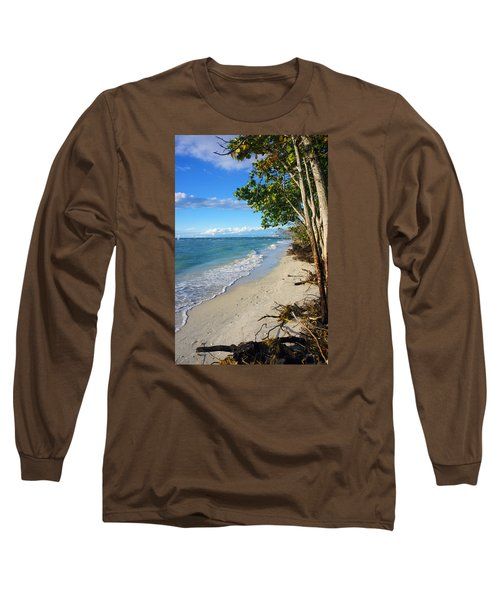 Delnor Wiggins Pass State Park Long Sleeve T-Shirt by Robb Stan