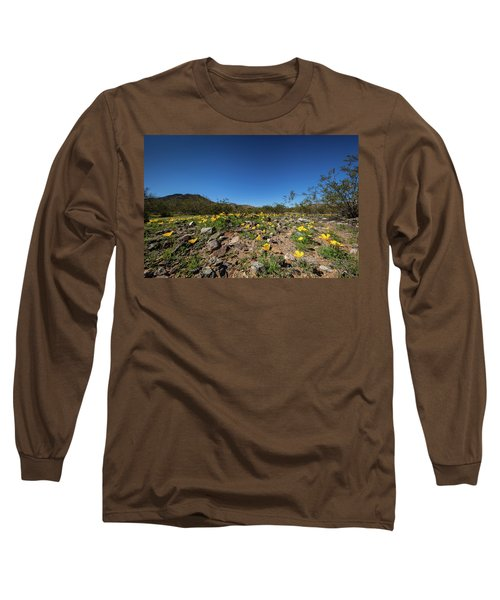 Desert Flowers In Spring Long Sleeve T-Shirt by Ed Cilley