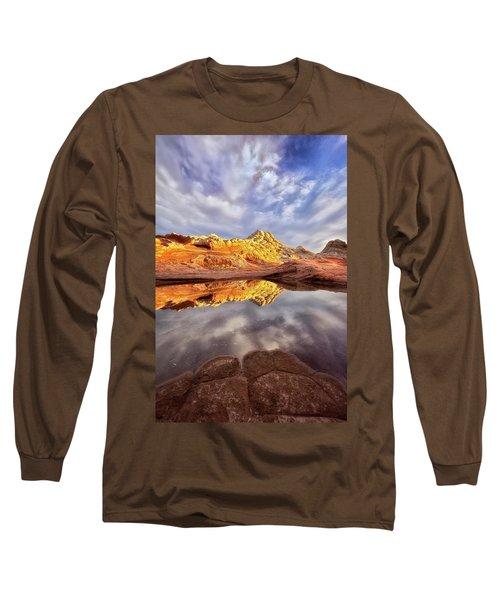 Desert Rock Drama Long Sleeve T-Shirt by Nicki Frates