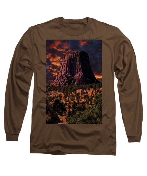 Long Sleeve T-Shirt featuring the photograph Devils Tower Sunrise by Scott Read