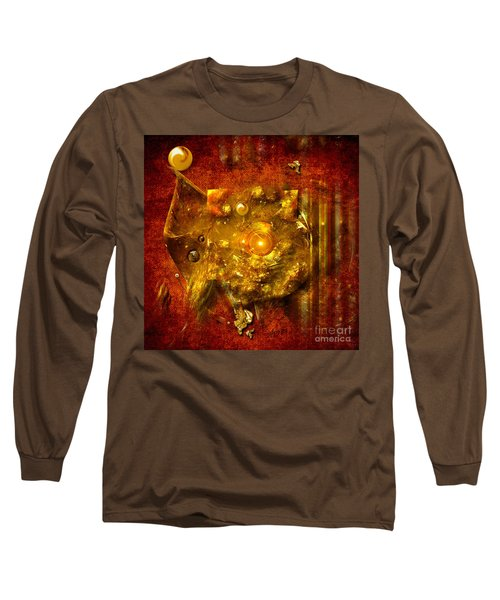 Long Sleeve T-Shirt featuring the painting Dimension Hole by Alexa Szlavics