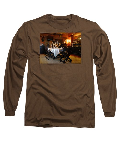 Dining Room Long Sleeve T-Shirt by Mikki Cucuzzo