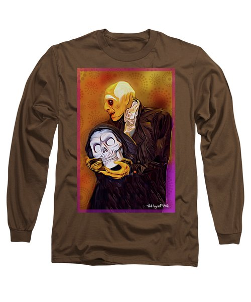 Long Sleeve T-Shirt featuring the painting Dinner Is Served by Ted Azriel