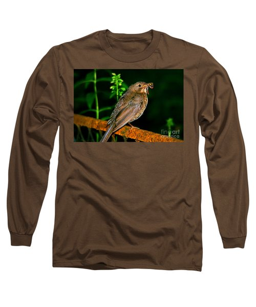 Long Sleeve T-Shirt featuring the photograph Dinner Time  by Mariola Bitner