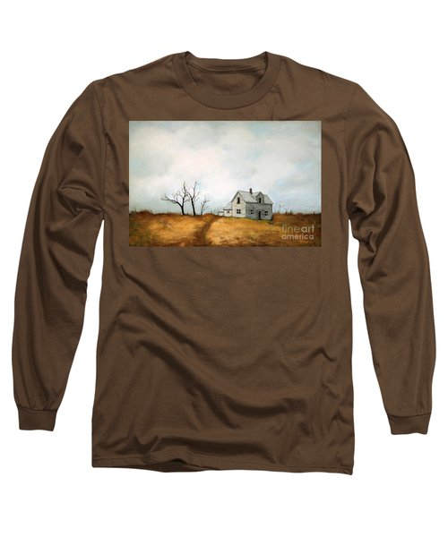 Long Sleeve T-Shirt featuring the painting Distant by Inese Poga