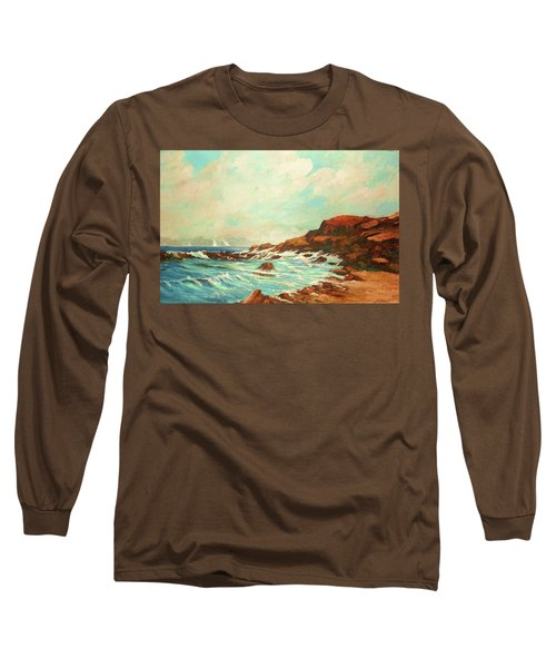 Distant Sails Of The Cove Long Sleeve T-Shirt by Al Brown