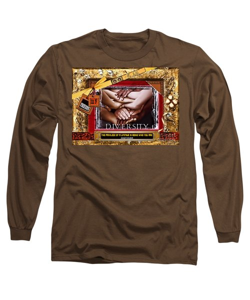 Long Sleeve T-Shirt featuring the digital art Diversity by Kathy Tarochione