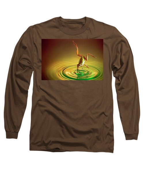 Long Sleeve T-Shirt featuring the photograph Diving by William Lee