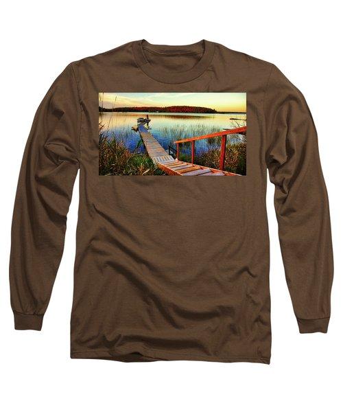 Dock At Gawas Bay Long Sleeve T-Shirt