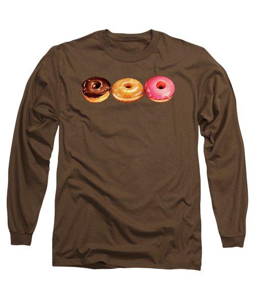 Donut Pattern Long Sleeve T-Shirt