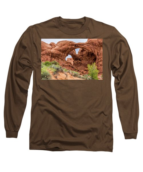 Double Arches, Arches National Park Long Sleeve T-Shirt