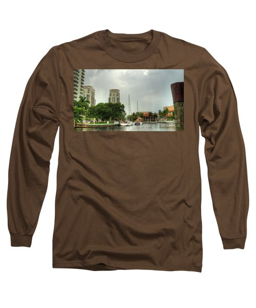 downtown Ft Lauderdale waterfront Long Sleeve T-Shirt