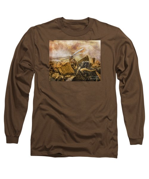 Long Sleeve T-Shirt featuring the digital art Dragonfly Dreams by Rhonda Strickland