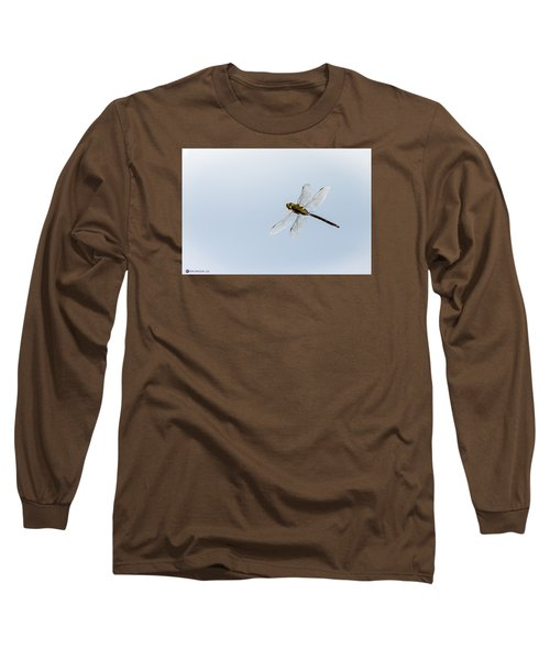 Dragonfly In Flight Long Sleeve T-Shirt by Teresa Blanton