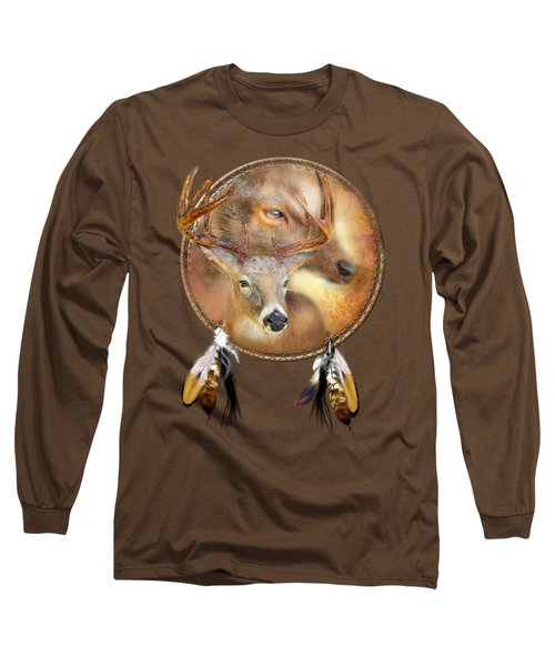 Dream Catcher - Autumn Deer Long Sleeve T-Shirt by Carol Cavalaris