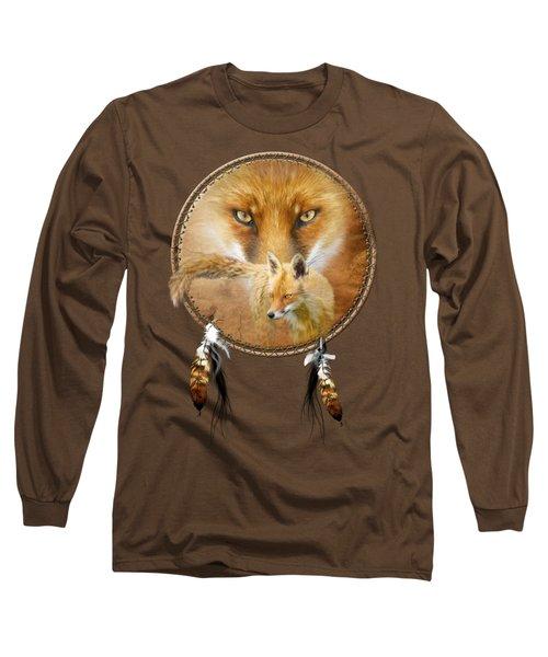 Dream Catcher- Spirit Of The Red Fox Long Sleeve T-Shirt