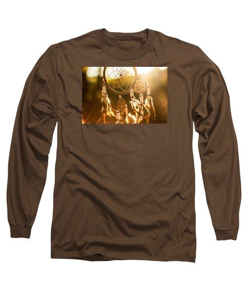 Dreamcatcher Long Sleeve T-Shirt by Tilen Hrovatic
