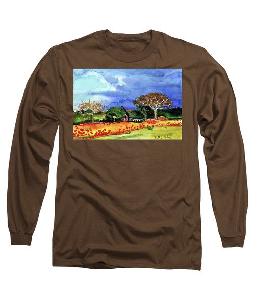 Long Sleeve T-Shirt featuring the painting Dreaming Of Malawi by Dora Hathazi Mendes