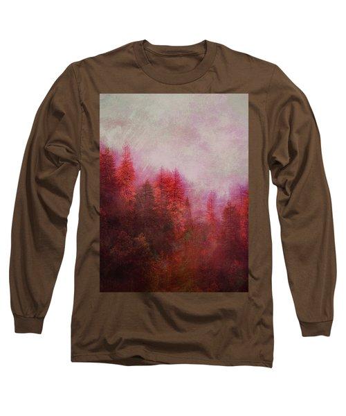 Long Sleeve T-Shirt featuring the digital art Dreamy Autumn Forest by Klara Acel
