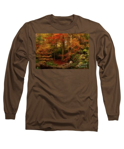 Dreamy Forest Glade In Fall Long Sleeve T-Shirt