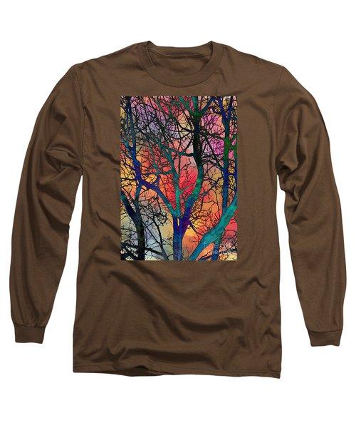 Long Sleeve T-Shirt featuring the digital art Dreamy Sunset by Klara Acel