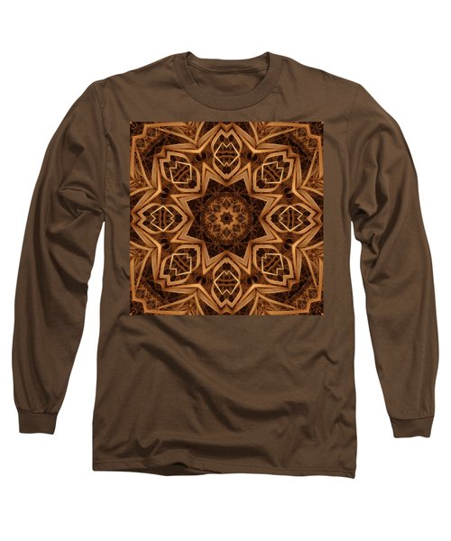 Dried Grass Mandala Long Sleeve T-Shirt