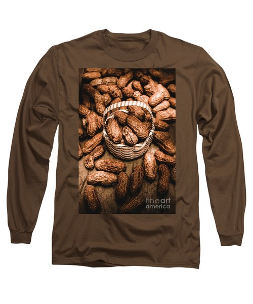 Dried Whole Peanuts In Their Seedpods Long Sleeve T-Shirt