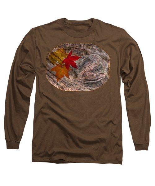 Drifting Autumn Leaves Long Sleeve T-Shirt by Gill Billington