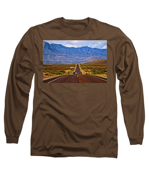 Driving To The Blue Long Sleeve T-Shirt