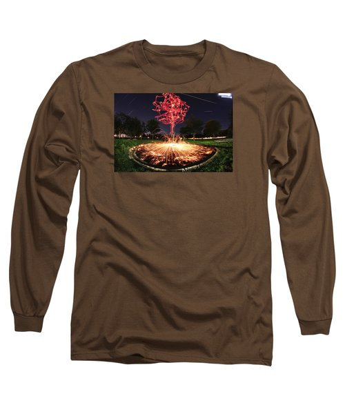 Drone Tree 1 Long Sleeve T-Shirt by Andrew Nourse