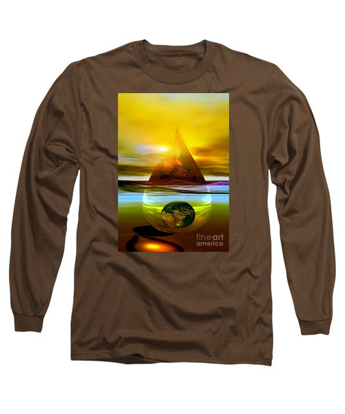 Long Sleeve T-Shirt featuring the digital art Drop Z by Shadowlea Is