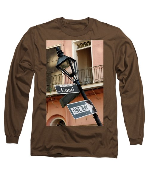 Drunk Street Sign French Quarter Long Sleeve T-Shirt