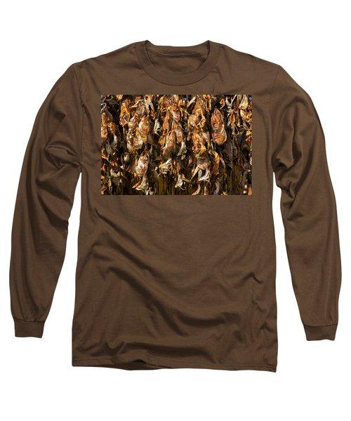 Drying Fish Heads - Iceland Long Sleeve T-Shirt