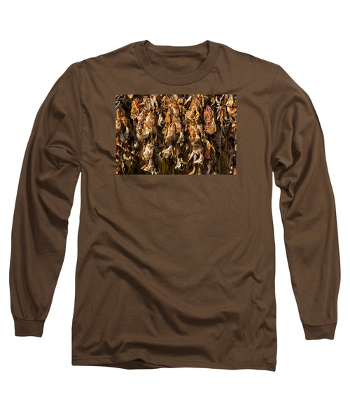 Drying Fish Heads - Iceland Long Sleeve T-Shirt